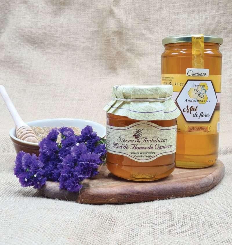 Miel de Cantahueso hecha en España. Miel cruda de cantahueso (lavanda) de Sierras Andaluzas. Compra Online en nuestra tienda.