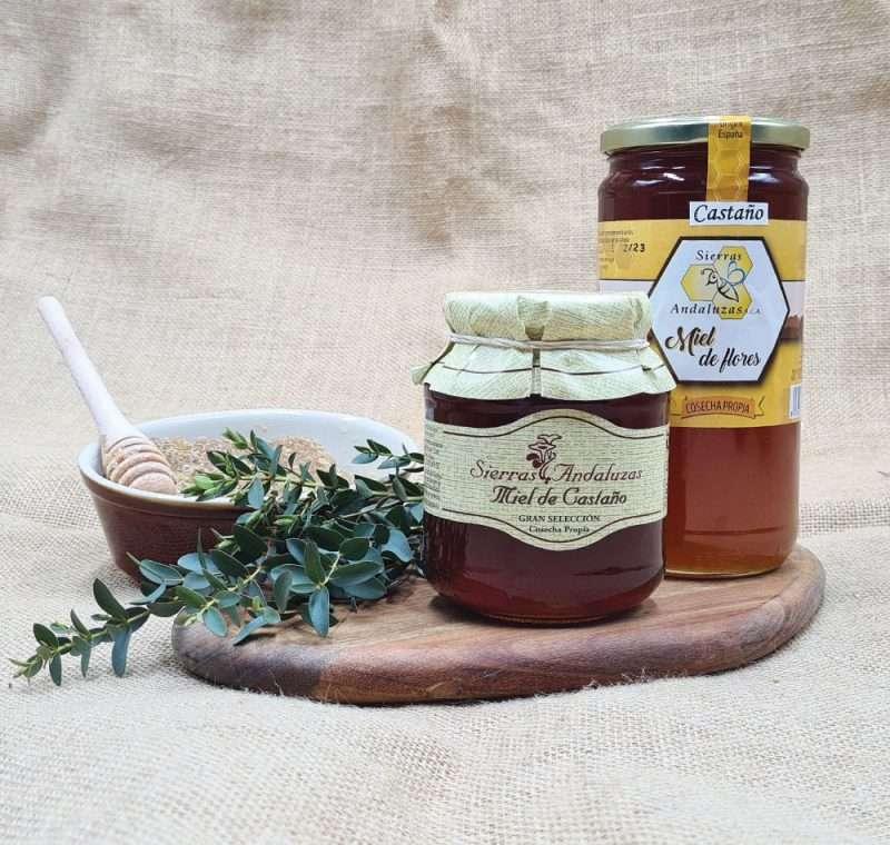Miel de Castaño hecha en España. Miel cruda de castaño de Sierras Andaluzas. Compra Online en nuestra tienda.