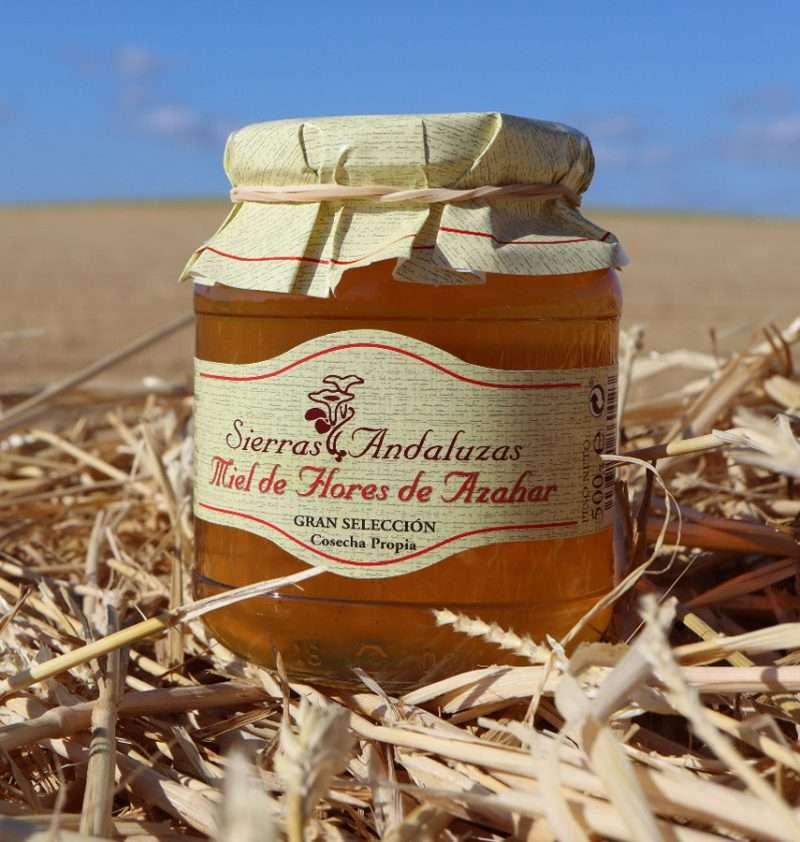 Compra Online Miel pura de Azahar hecha en España. Miel Sierras Andaluzas