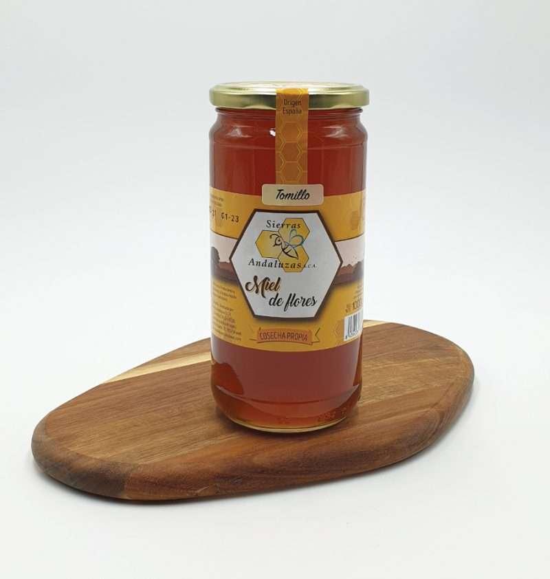 Miel de Tomillo hecha en España. Miel cruda de tomillo de Sierras Andaluzas. Compra Online en nuestra tienda.