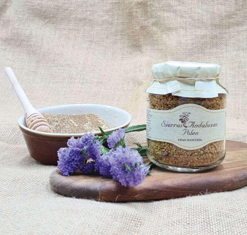 Compra Online Polen de abeja hecho en España. Polen de Sierras Andaluzas.