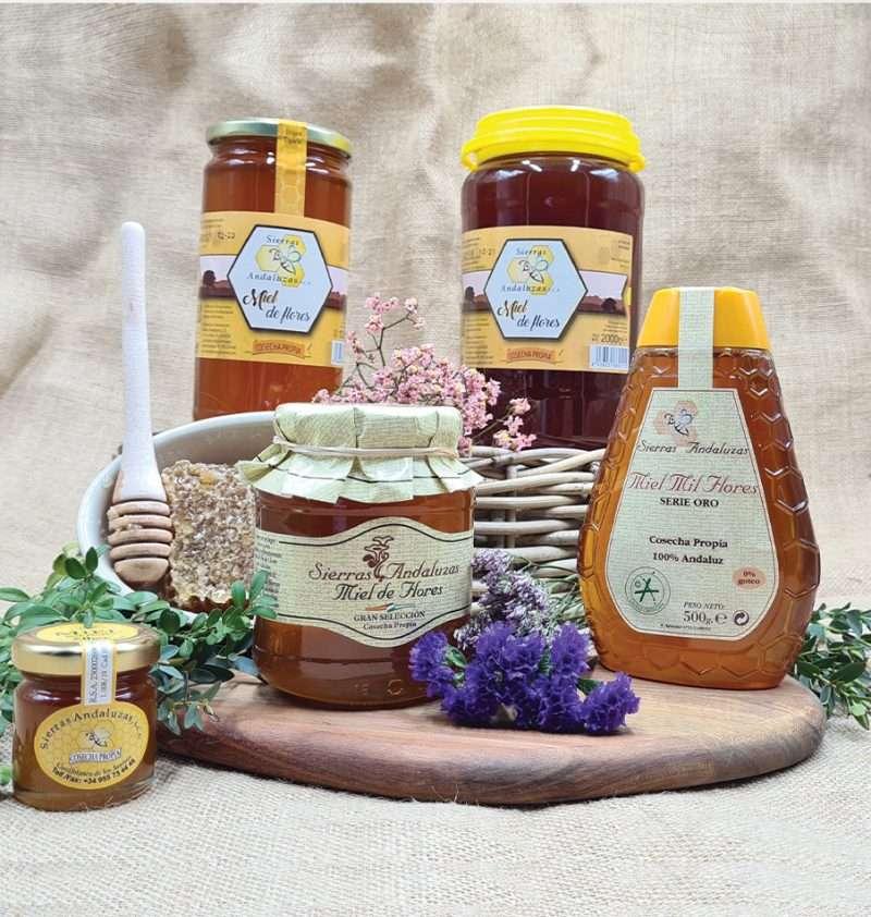 Miel de Flores de Andalucía. Compra Online tu miel de Sierras Andaluzas.
