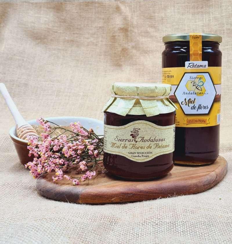 Miel de Retama hecha en España. Miel cruda de retama de Sierras Andaluzas. Compra Online en nuestra tienda.