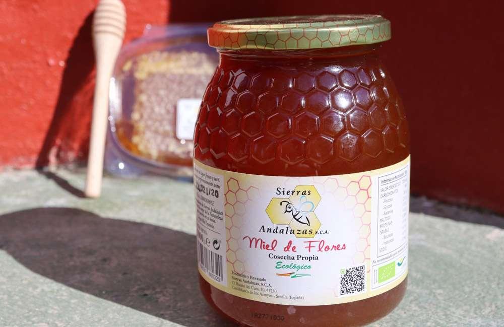 Compra Online miel de mil flores ecológica de España. Miel ecológica cruda.